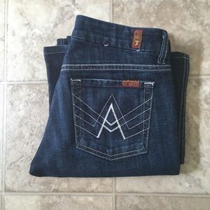7 For All Mankind A POCKET Size 28 Inseam 33